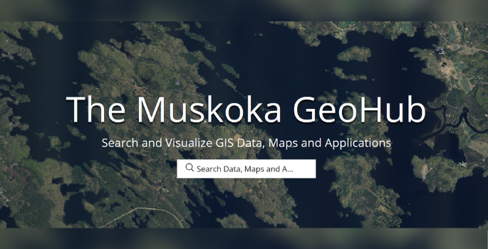 a screenshot of the Muskoka GeoHub Website