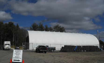 Household hazardous waste collection dome facility