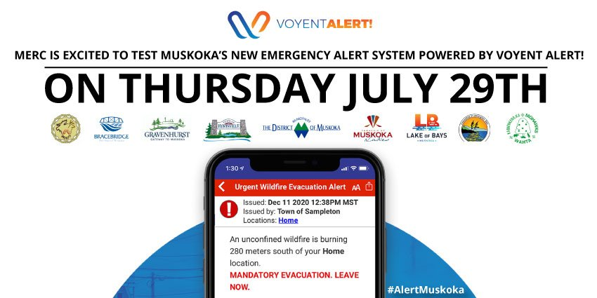 VoyentAlert! promotional image with app appearing on the phone