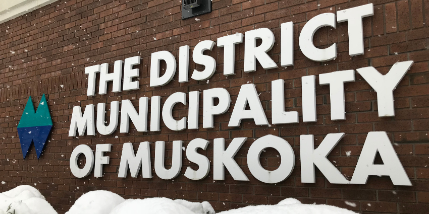 District Administration Office Building with Sign