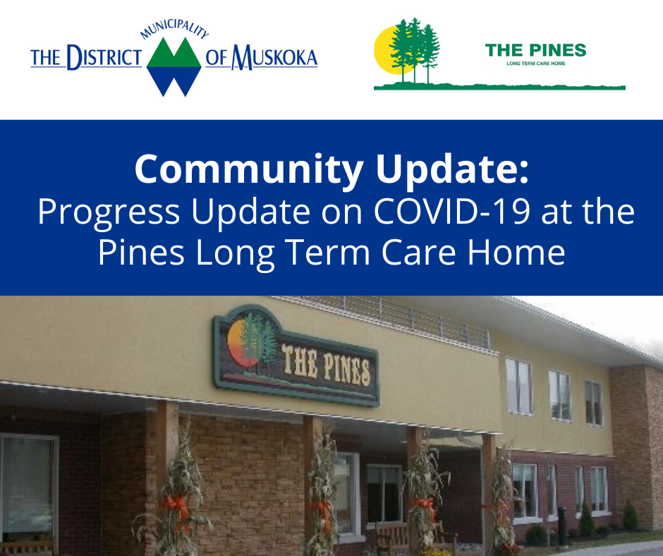 front of the Pines Long Term Care Home