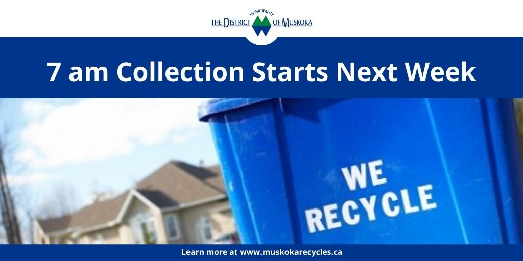 blue box at the curb - we recycle